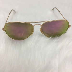 Ray-ban RB3025 Aviator Cyclamen Sunglasses Pink